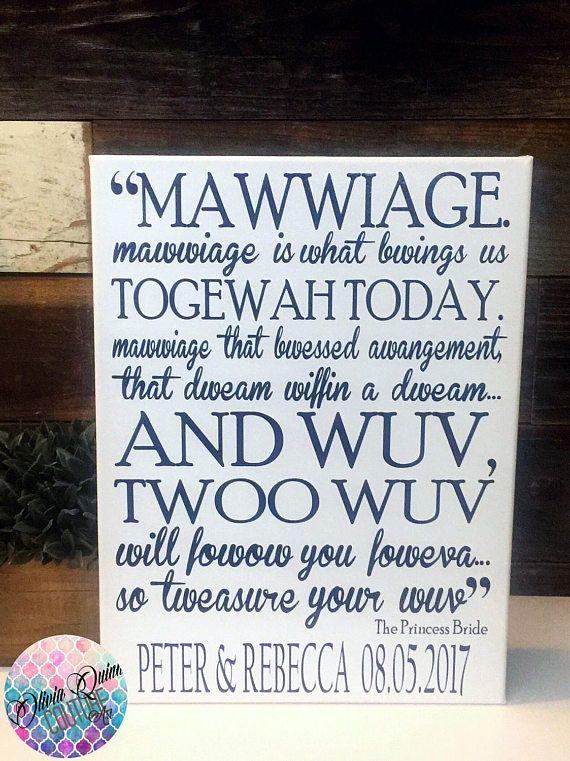 Princess Bride Mawwiage Quote