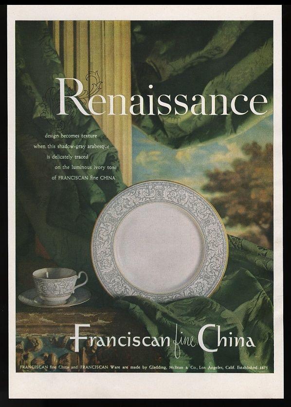 1954 Franciscan Fine China
