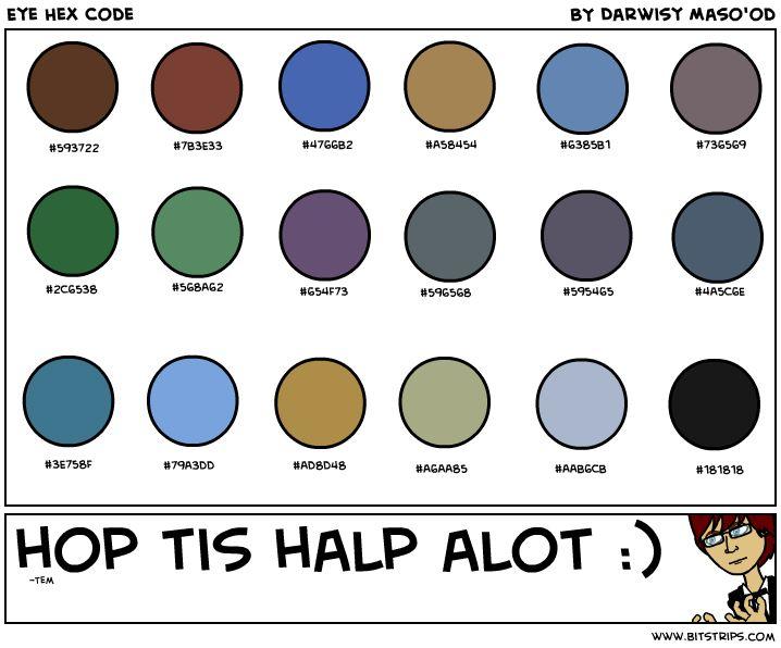 Color Chart Names Eye