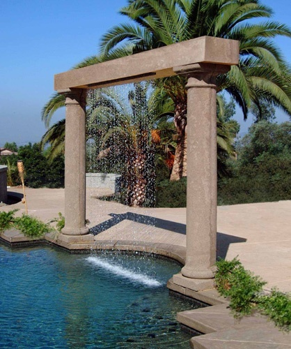 Rain Curtain Water Features Pinterest Arbors