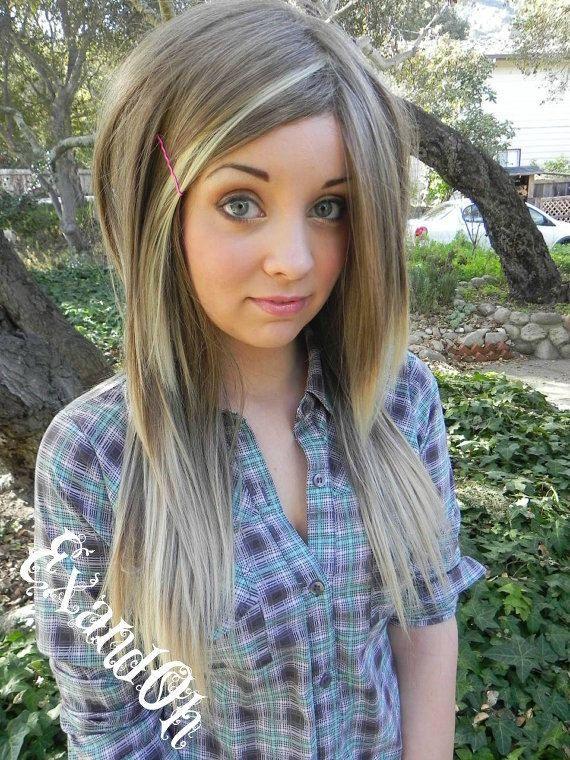 Thin Blonde Highlights Light Brown Hair