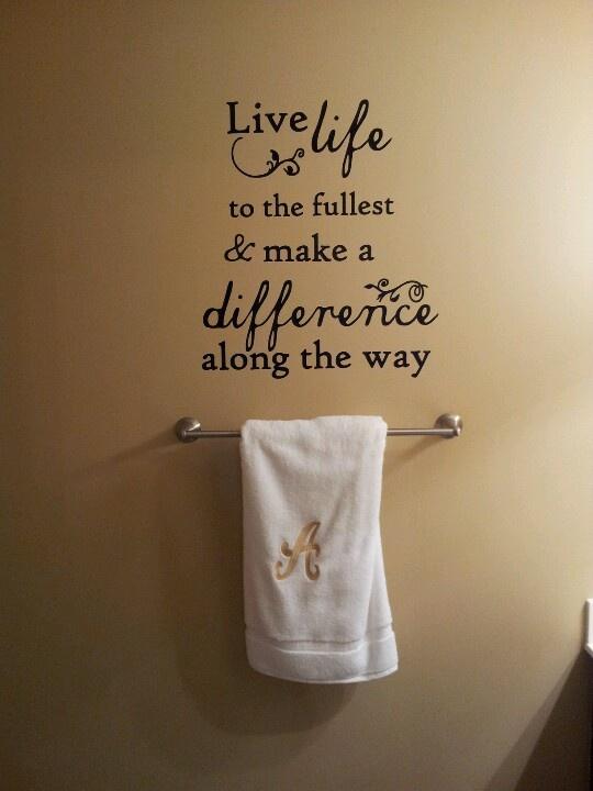 Bathroom Wall Decor Quotes