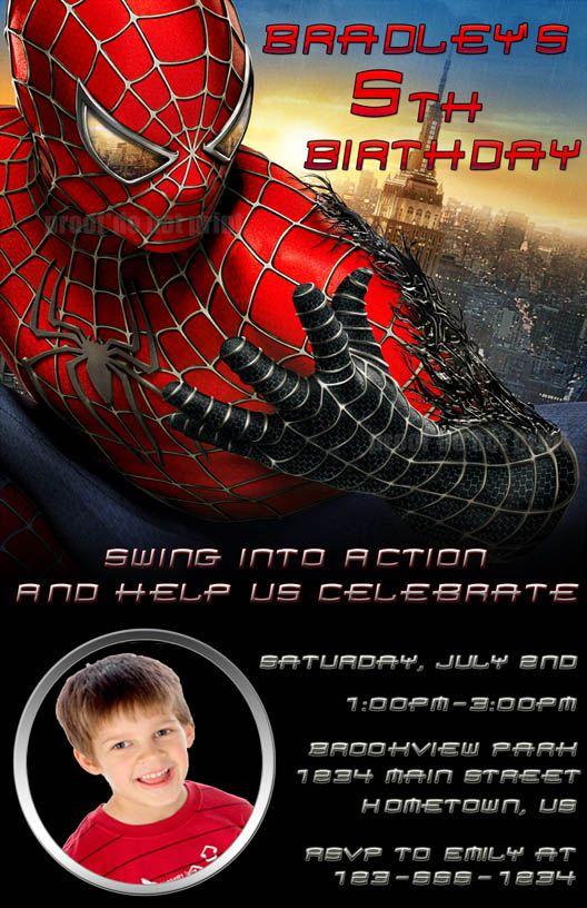 Spider Man Invitations Templates