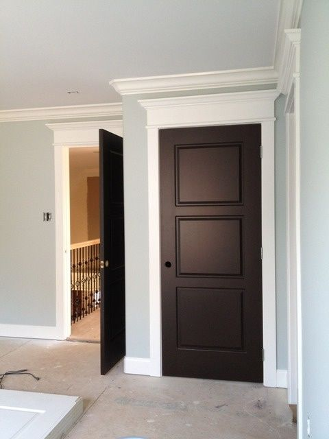 Dark Stained Crown Molding