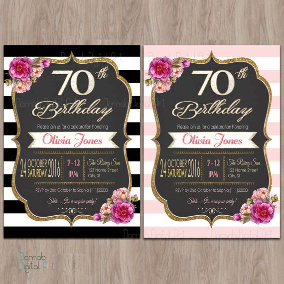 Printable Birthday Party Invitations 90th