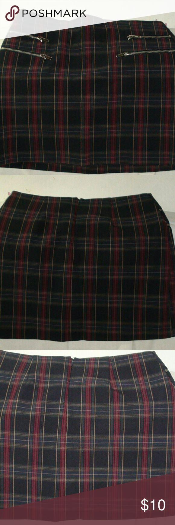 Plaid Skirt Forever 21 Line