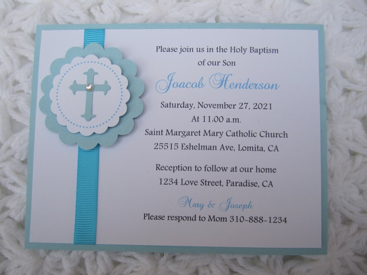 Making Baptism Invitations