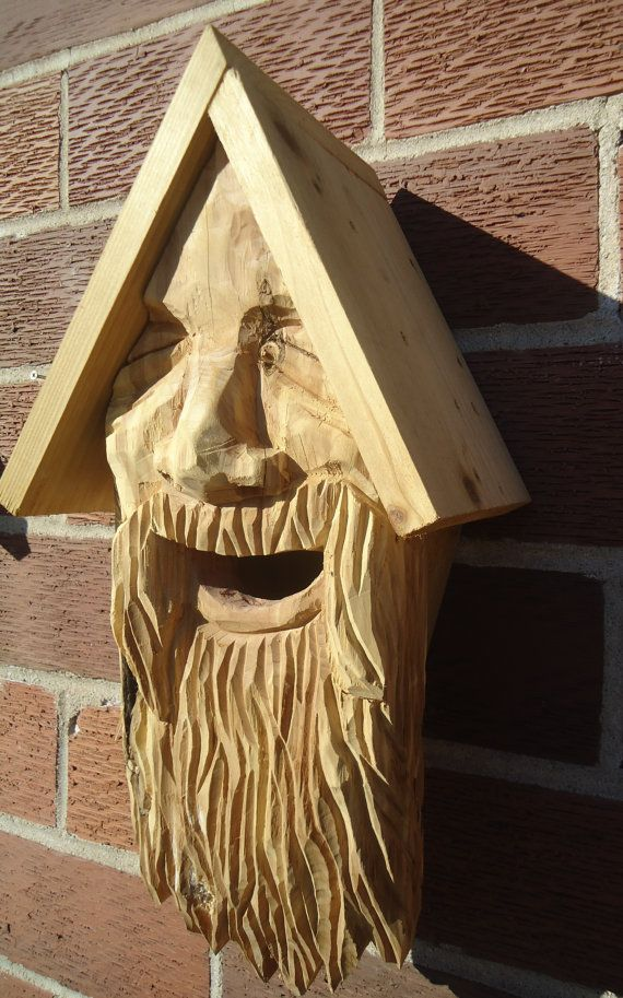 Bird Houses Face Carved