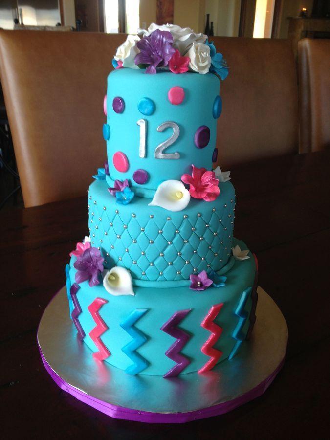 Aqua Birthday Cake Birthday Cakes Baking Fancy Cakes