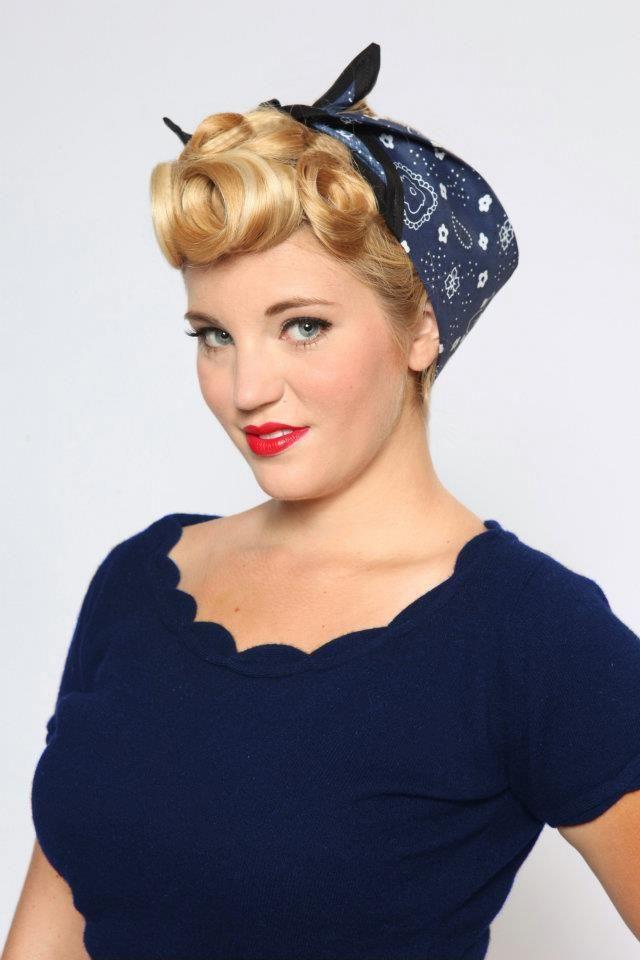 Pinup hair - bandana | Rockabilly & Pin up Hair and Makeup ...