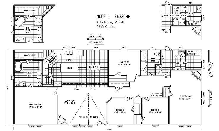 Quadruple Wide Mobile Home Floor Plans