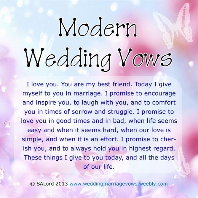Secular Wedding Vows