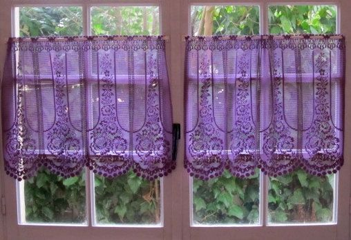 Purple Kitchen Valances