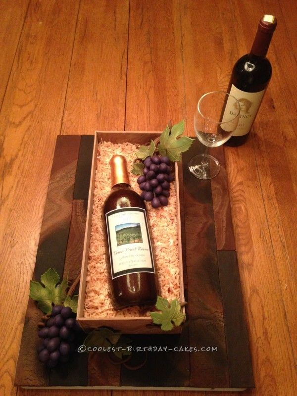 Amazing Wine Bottle Cake For Mom S 60th Birthday