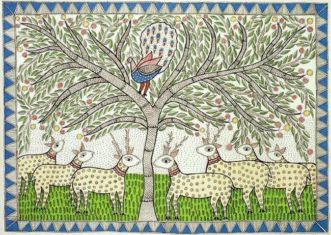 Art Folk Roots Tree