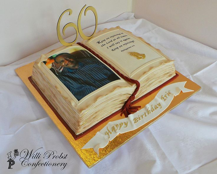 Bible Themed 60th Birthday Cake Bible Themed Cakes