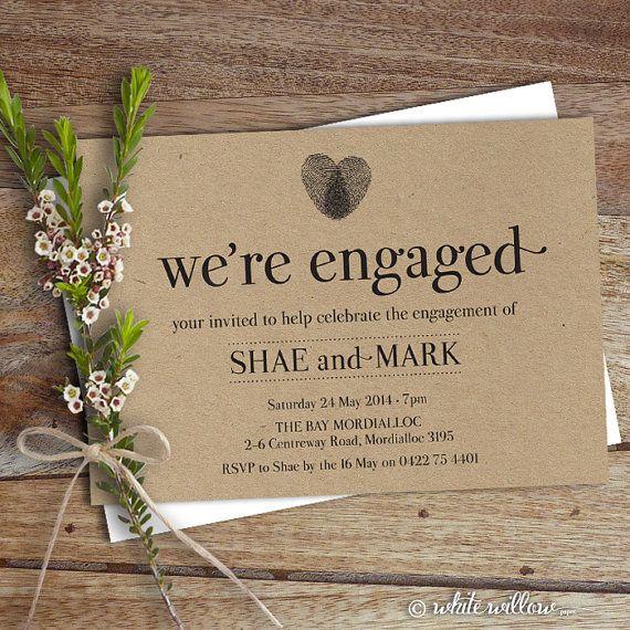 Handmade Rustic Wedding Invitations