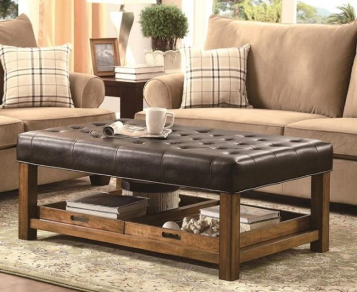 Coffee Ottoman Leather Table
