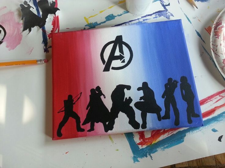 Superhero Paintings Easy Canvas