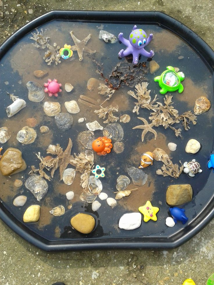 Small World Ideas Diy Rockpool Made With Treasures
