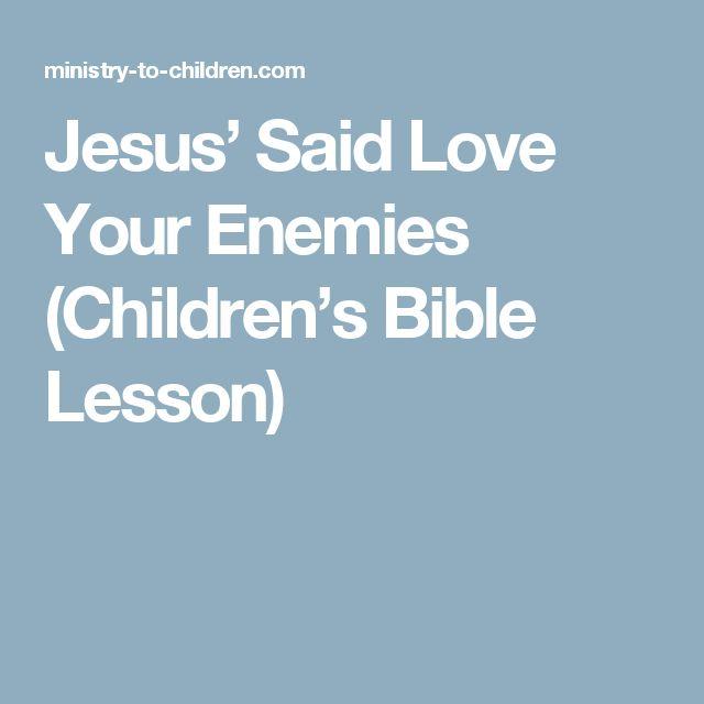 Ideas Craft Love Your Enemies