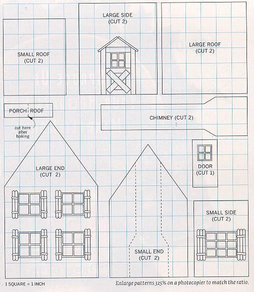 Paper Gingerbread House Patterns