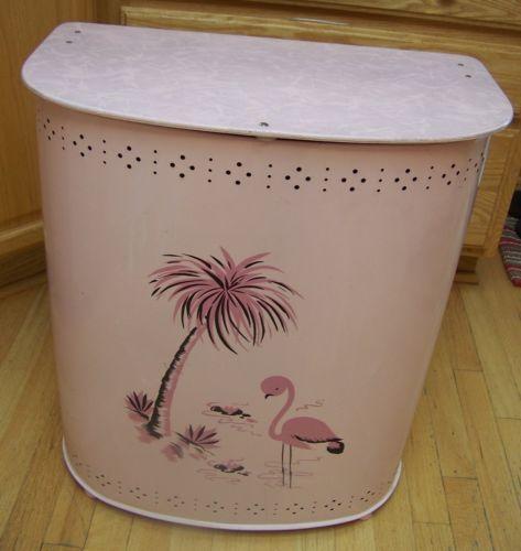 Retro Vintage 1950s Pink Flamingo Amp Palm Tree Clothes