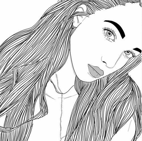 Tumblr Girl Dab Outline