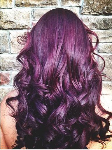 Plum color, Hair color and Burgundy plum hair color on ...