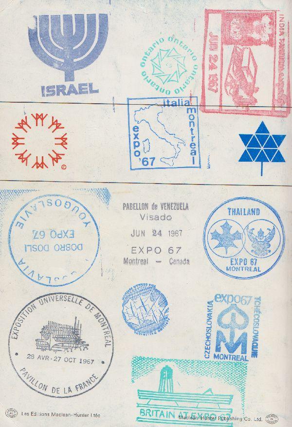 Landmarks Around World Stamps