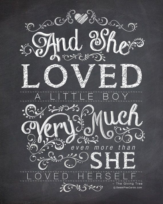 And She Loved Little Boy Quote Tattoo