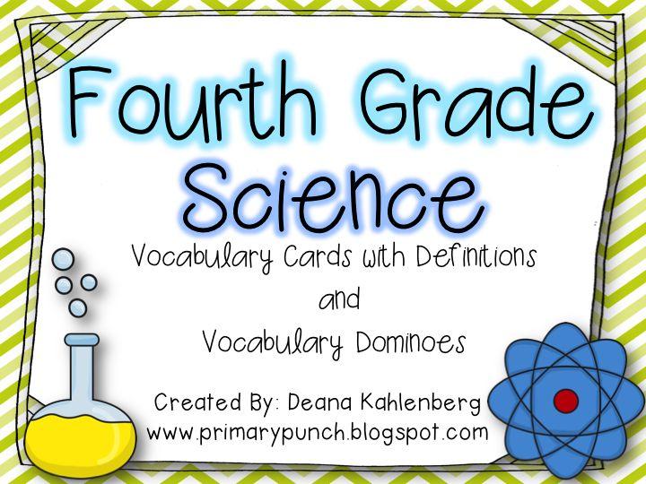 4th Words Vocabulary Grade Science