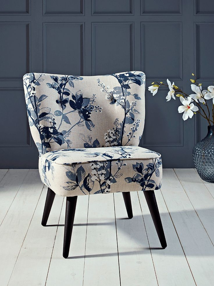 Slate Blue Accent Chair
