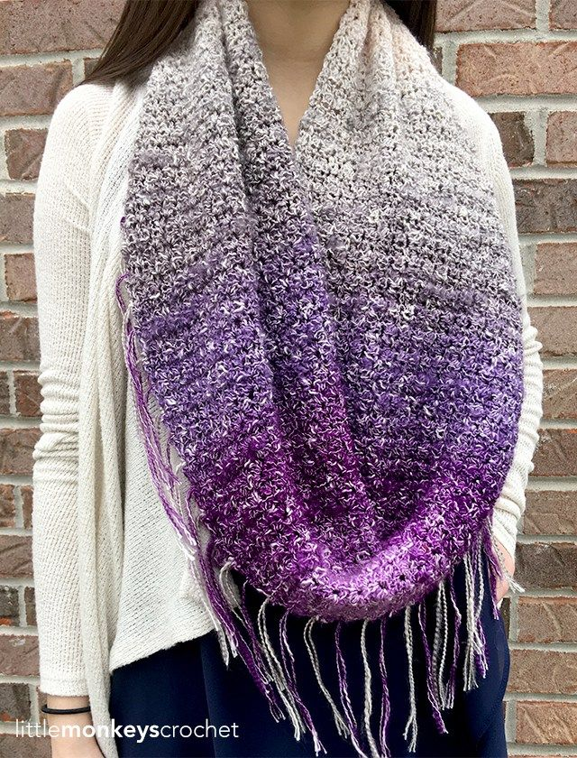 Patterns Patterns Knitted Or Crocheted Infinity Scarf Fringe