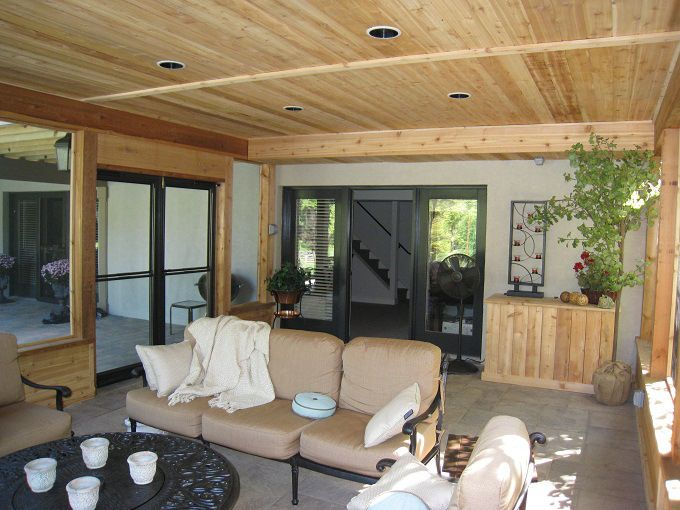 Screened Porch Fireplace Ideas