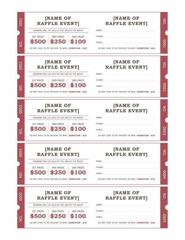 Raffle Tickets Templates Office Com Crafts Thirty