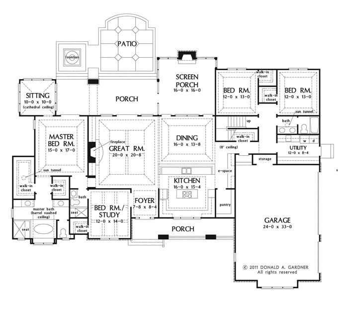 House Plans Kitchen Front House