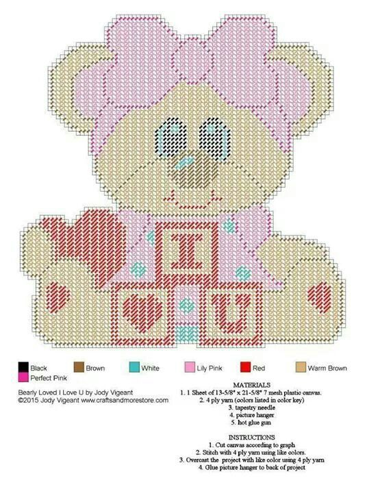 Bear Cut Plastic Canvas Pre