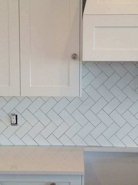 Herringbone Pattern Backsplash Tile