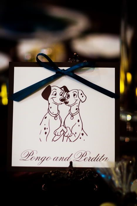 Disney Themed Wedding Tables Names