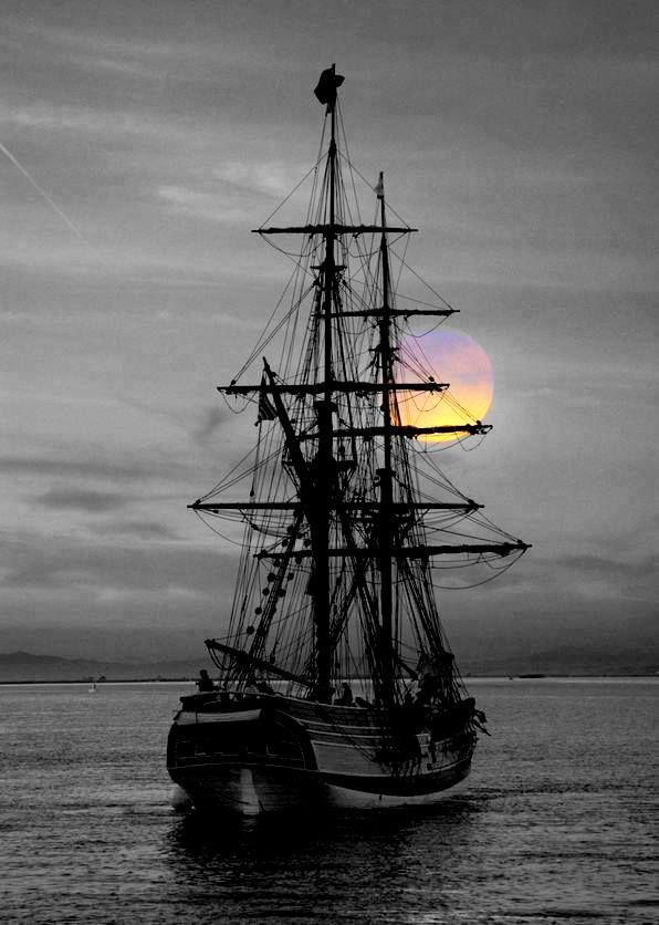 Tall Ship Caribbean Sunrise