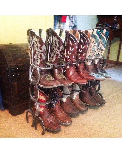 Boot Rack Welded Horseshoes