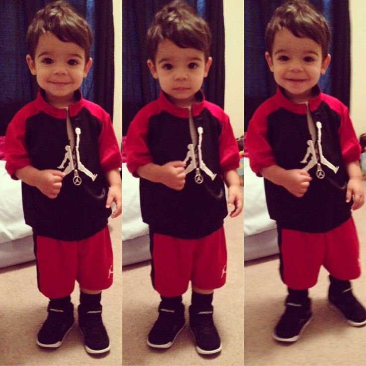Red And Air Boys Baby Black Jordans