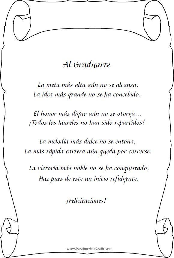 Poemas Para Los Graduados
