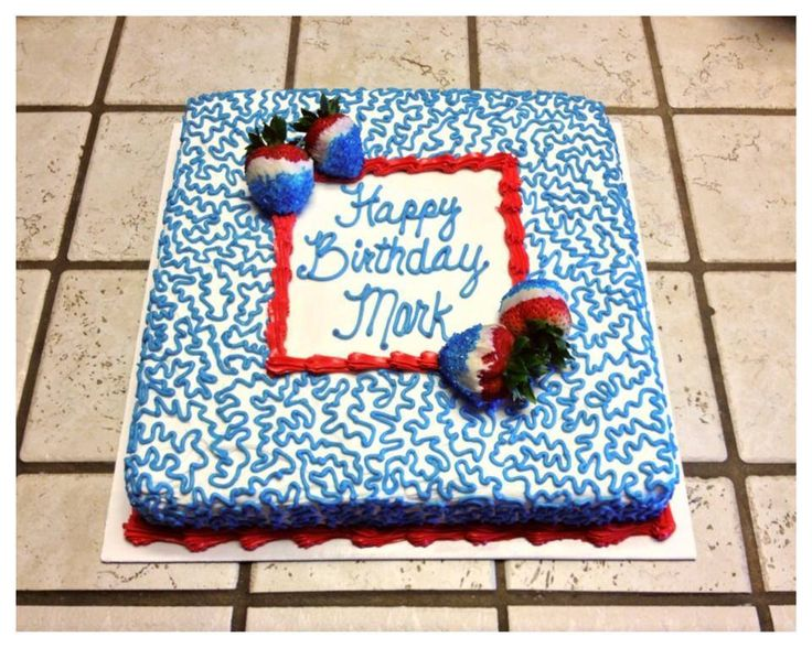 Red White And Blue Sheet Cake