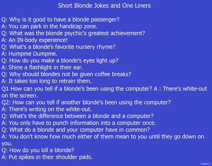Blonde Joke New York Parking