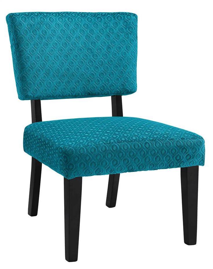 Teal Armless Accent Chair