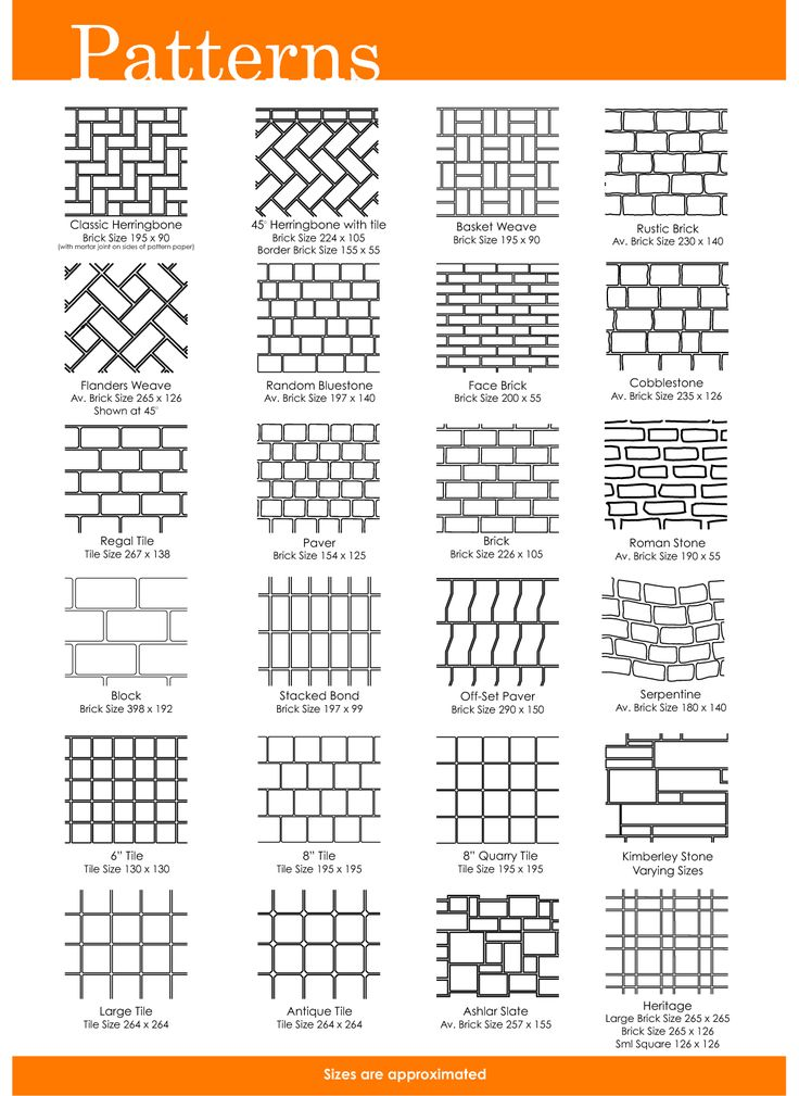 Free Printable Herrinbone Brick Patterns 36 Patterns