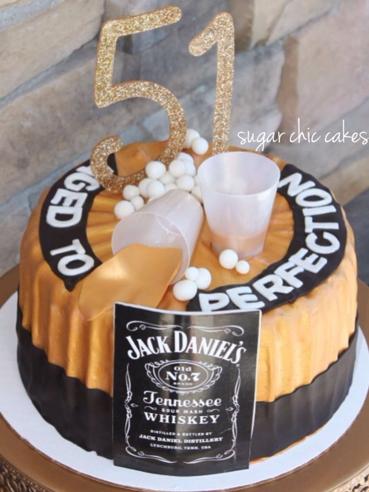 Quot Aged To Perfection Quot Cake For A 51st Birthday By Sugar