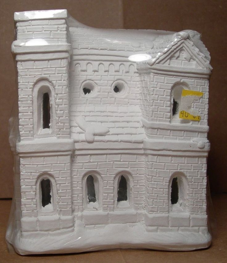 Houses Village Plaster Unpainted Christmas